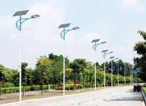 Straßenbeleuchtung mit LED und Solar